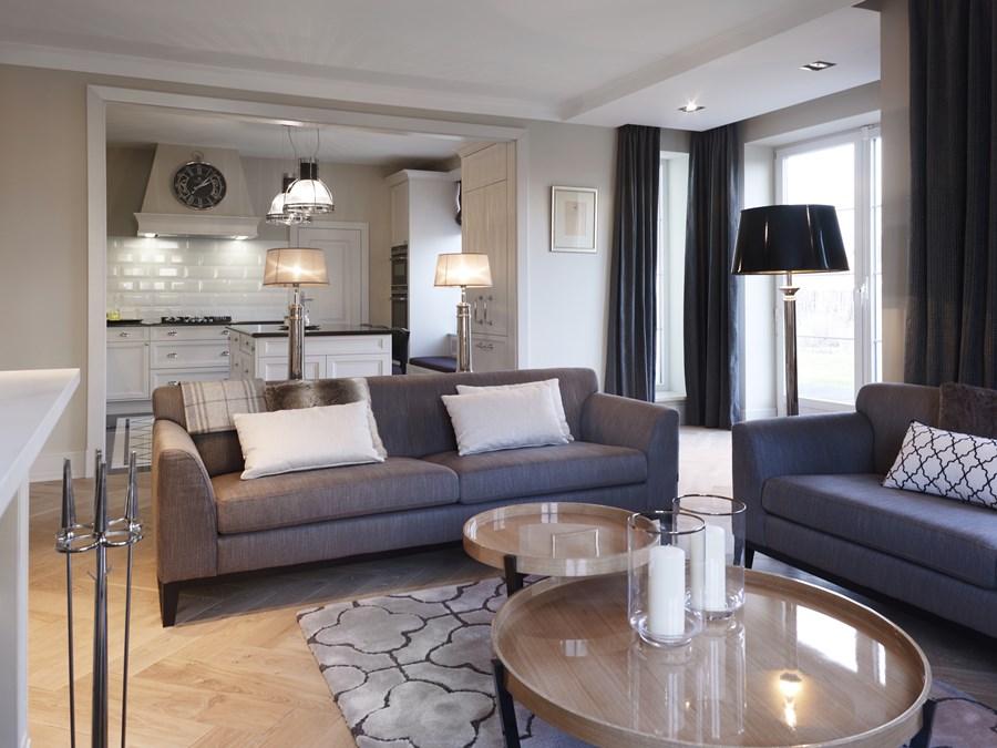 Przytulny Salon W Stylu Modern Classic Architektura