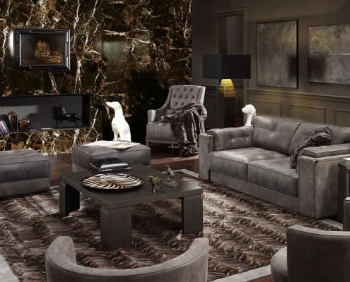 Stylowy salon - modern classic