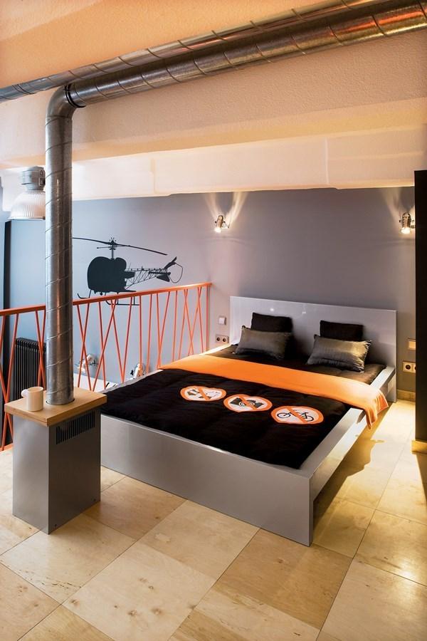 sypialnia na antresoli z �azienk� inspiracja homesquare