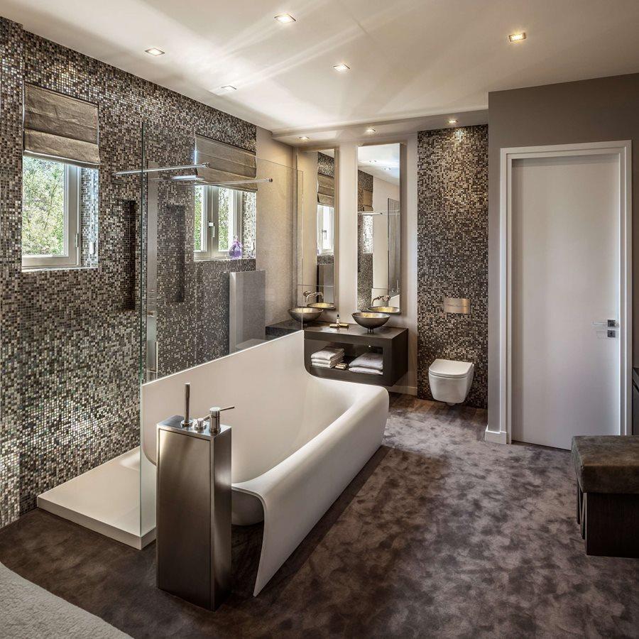 Aranżacja łazienki w mozaice