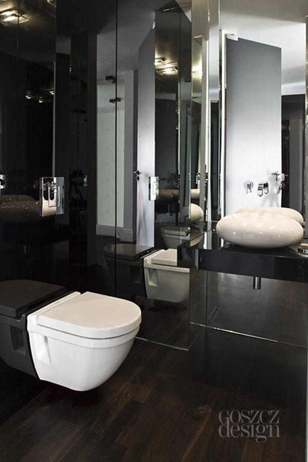 Aranżacja Czarnej łazienki Inspiracja Homesquare