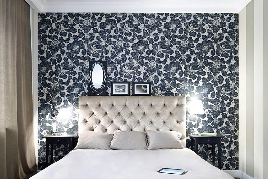 Eklektyczna sypialnia - HomeSquare