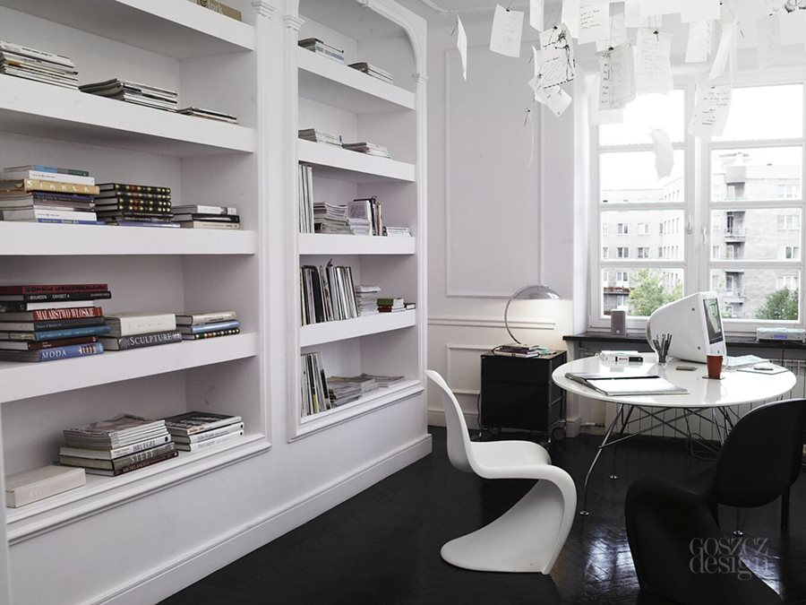 gabinet w domu styl modern classic inspiracja homesquare