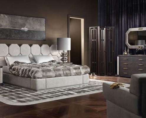 Duża sypialnia art deco