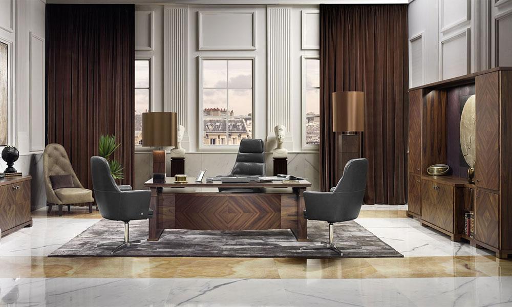 elegancki gabinet w przestronnym pokoju architektura