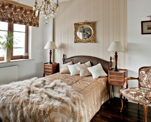 Aranżacja klasycznej sypialni - ekskluzywne sypialnie