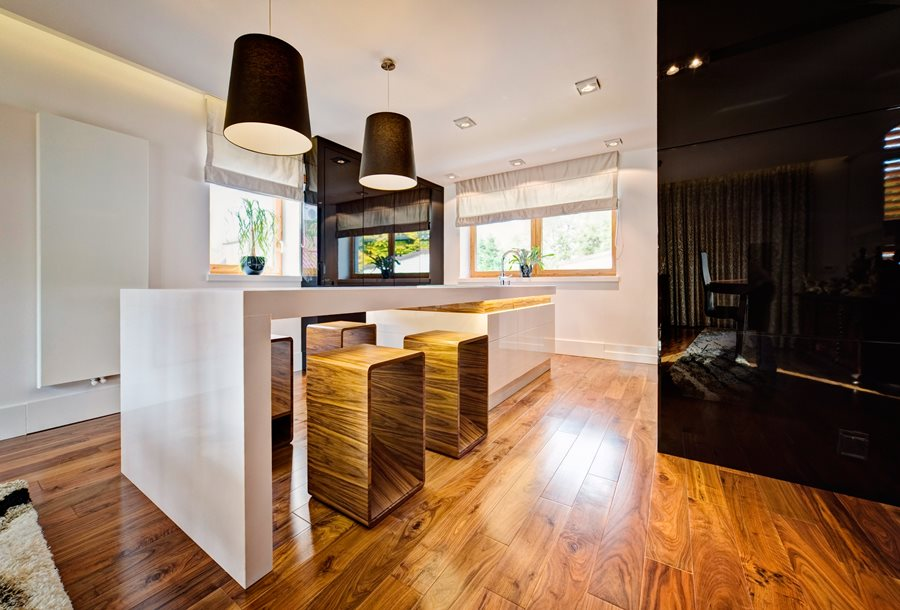 Meble kuchenne na wysoki połysk - biuro projektowe