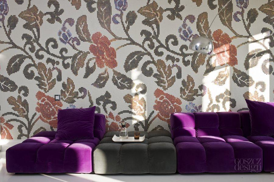 Salon z mozaiką