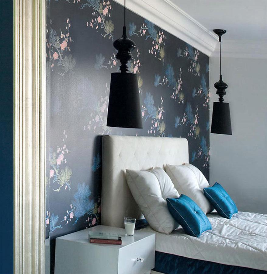 Niebieska Sypialnia Przelamana Biela Inspiracja Homesquare
