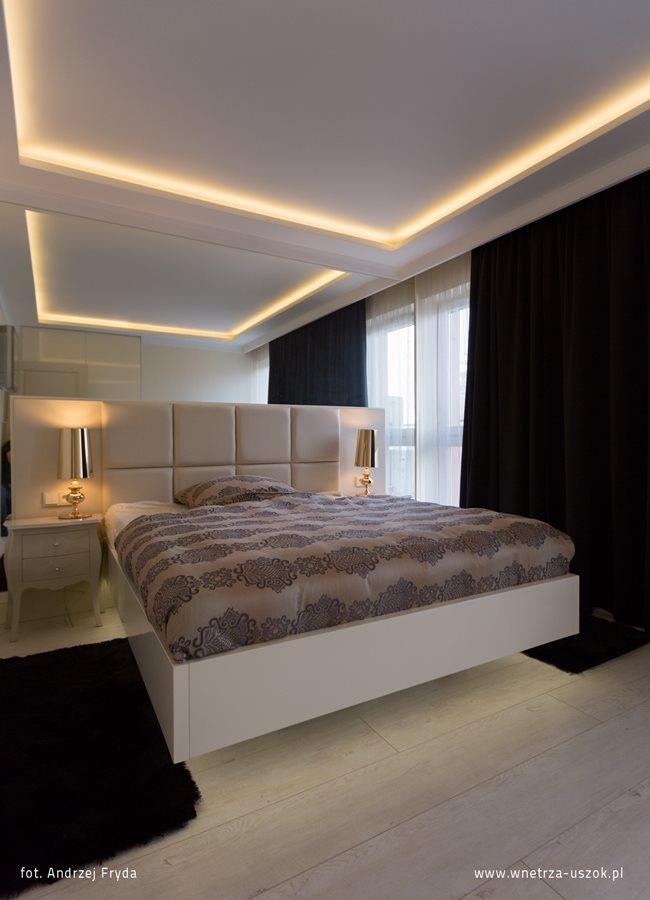 Podświetlany sufit w sypialni - Pracownia Architektoniczna USZOK - HomeSquare