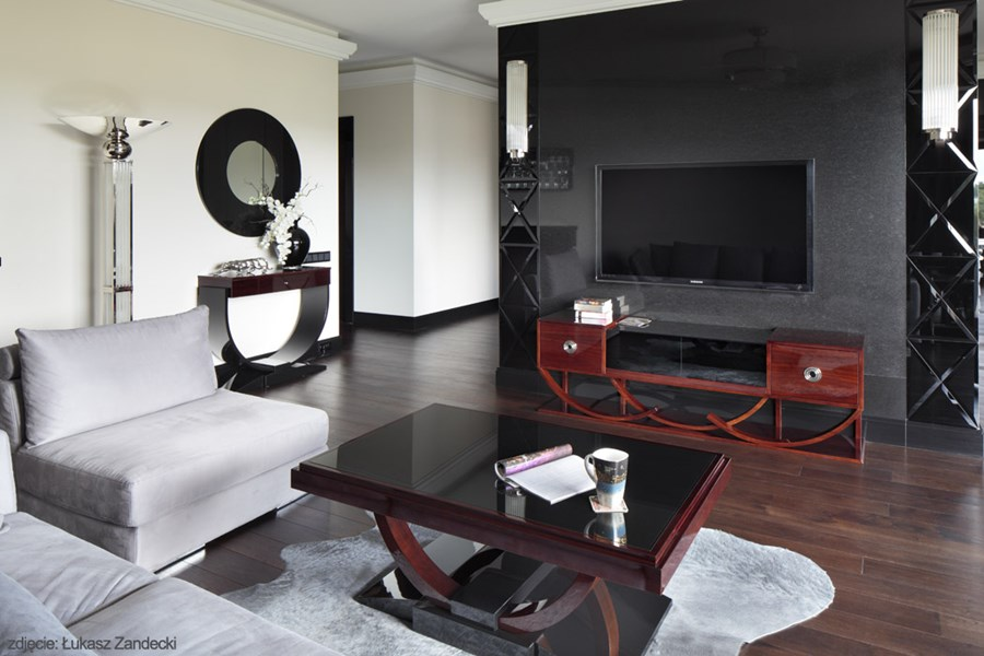 salon w stylu art deco inspiracja homesquare. Black Bedroom Furniture Sets. Home Design Ideas