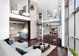 Industrialny wystrój wnętrz - nowoczesny loft