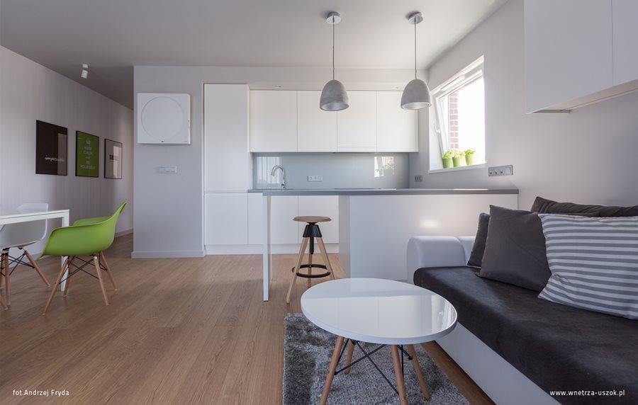 Aranżacja kuchni w salonie  Architektura, wnętrza  -> Kuchnia Z Salonem Umeblowanie