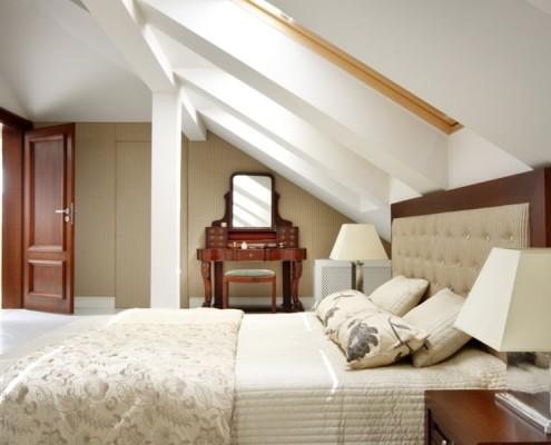 ARanżacja sypialni na poddaszu