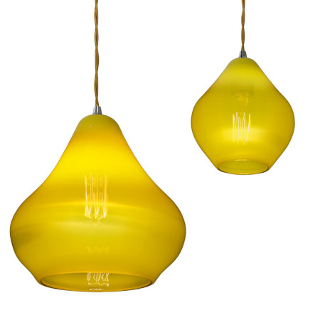 Szklana lampa Acid Drop
