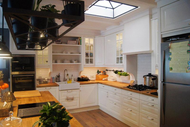 Biała kuchnia z wyspą  Architektura, wnętrza, technologia   -> Funkcjonalna Kuchnia Z Wyspą
