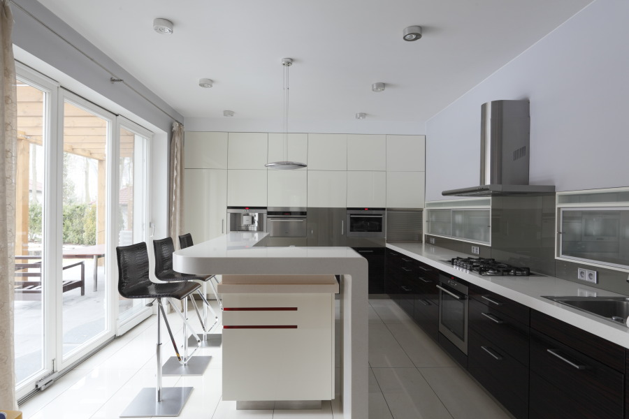 Barek w nowoczesnej kuchni  Architektura, wnętrza, technologia, design  Hom