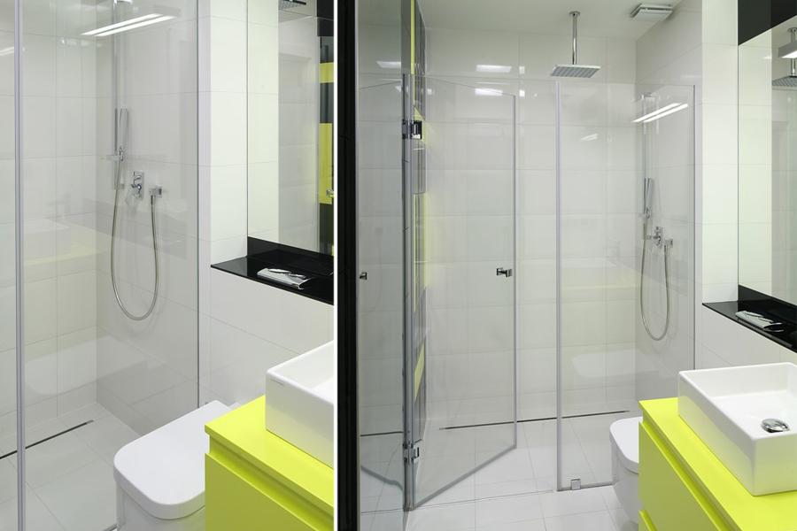 Kabina dwuskrzydłowa - prysznic w łazience