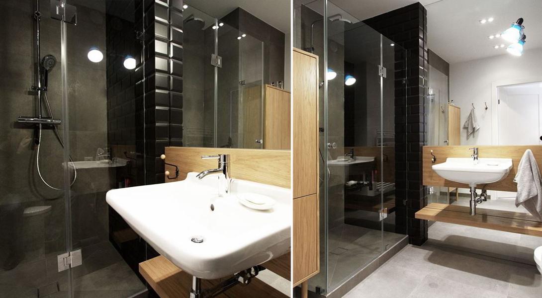 Kabina jednoskrzydłowa - prysznic w łazience