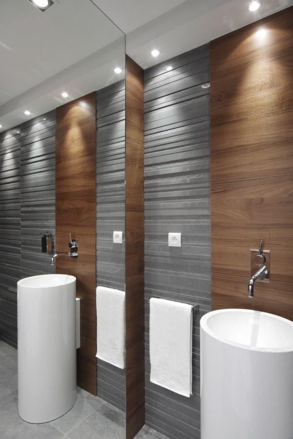 Nowoczesna łazienka Z Betonem Dekoracyjnym Inspiracja
