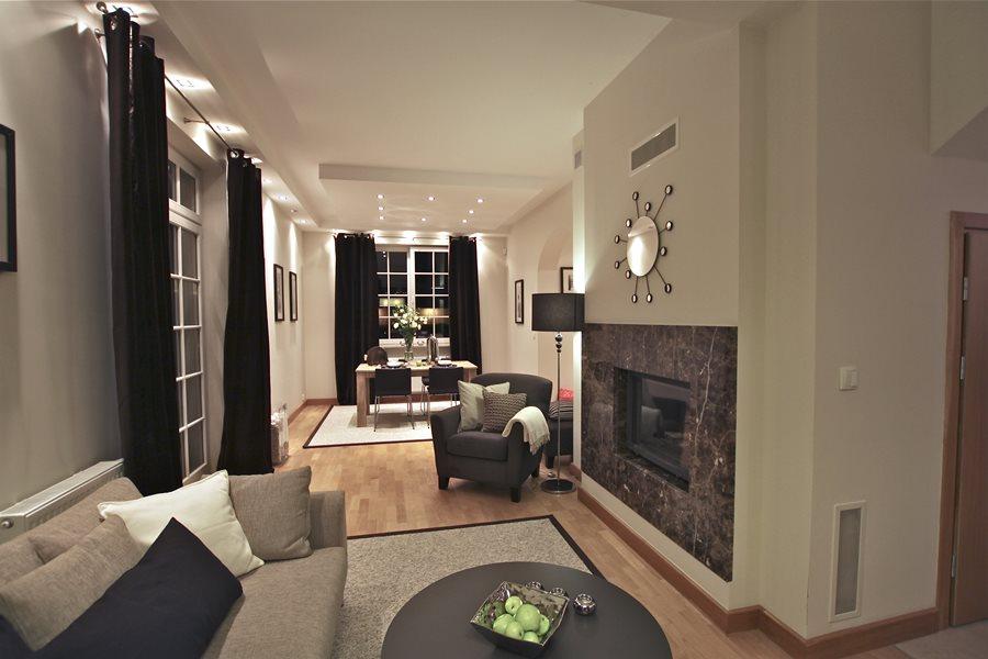 metamorfoza salonu w nowoczesnym stylu architektura
