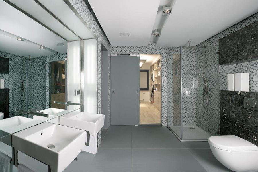 Szara łazienka W Mozaice Inspiracja Homesquare