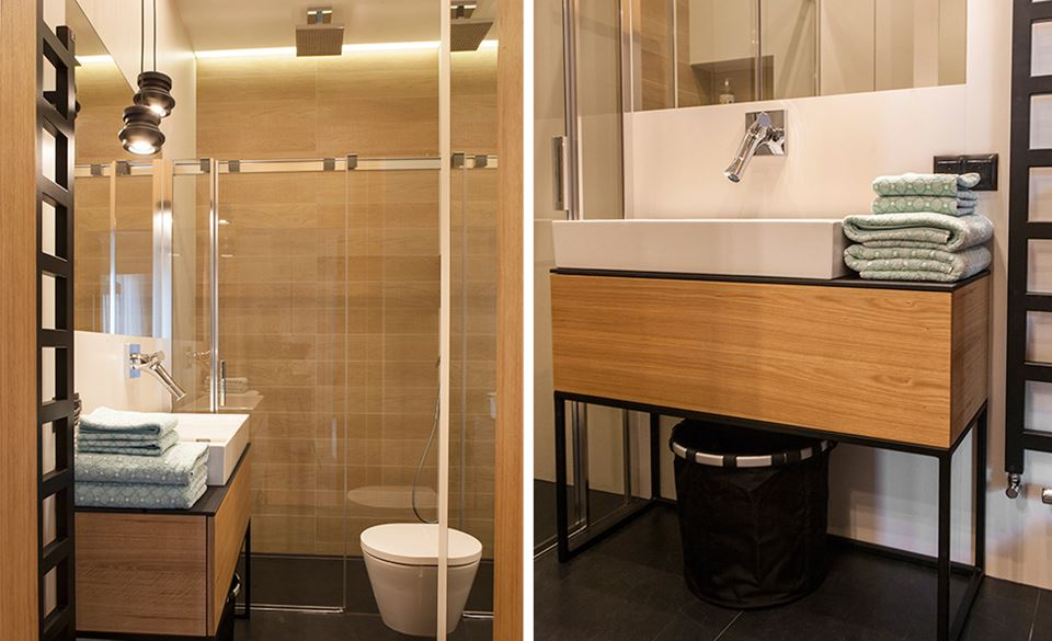 Nowoczesna Beżowa łazienka Homesquare