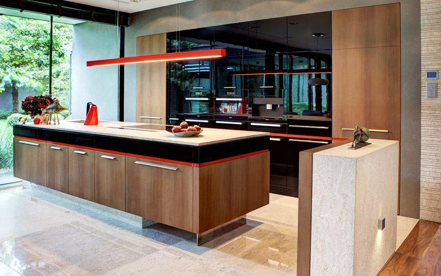 Nowoczesna kuchnia połączona z jadalnią  Architektura, wnętrza, technologia,   -> Nowoczesna Kuchnia Polączona Z Jadalnią