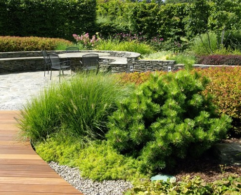 Ogród w stylu nowoczesnym