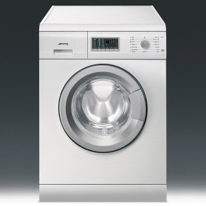 Nowoczesna biała pralka wolnostojąca SMEGL SLB147 8017709142919