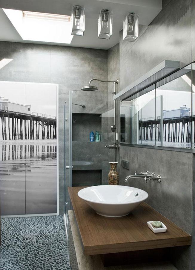 Nowoczesna łazienka W Szarościach Inspiracja Homesquare