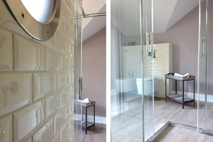 Pokój kąpielowy na poddaszu - Architektura, wnętrza, technologia, design - HomeSquare