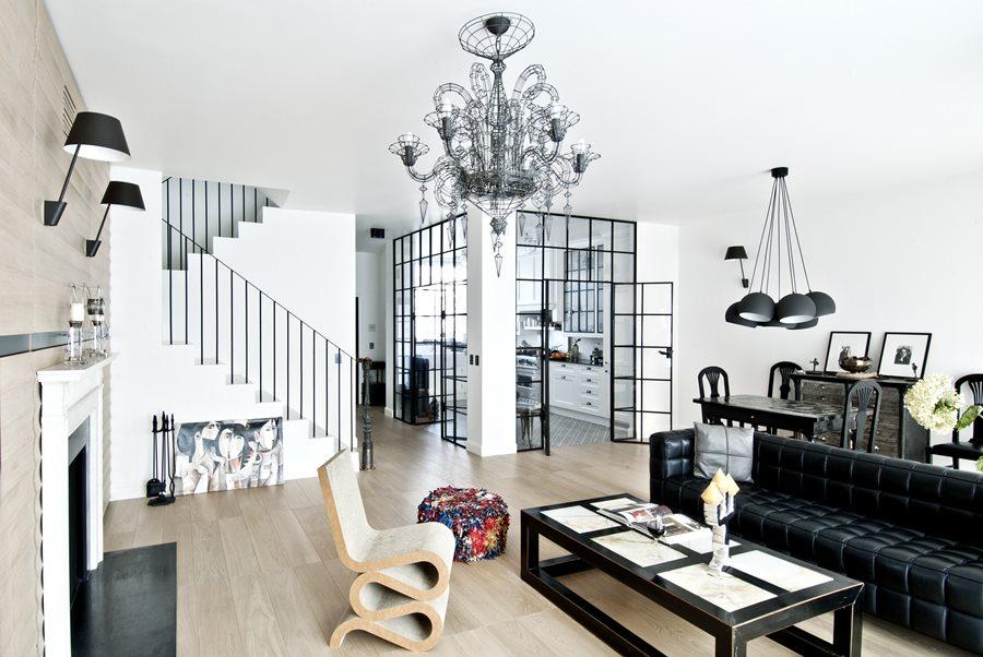 Aranżacja salonu w eklektycznym stylu - eklektyczne wnętrza