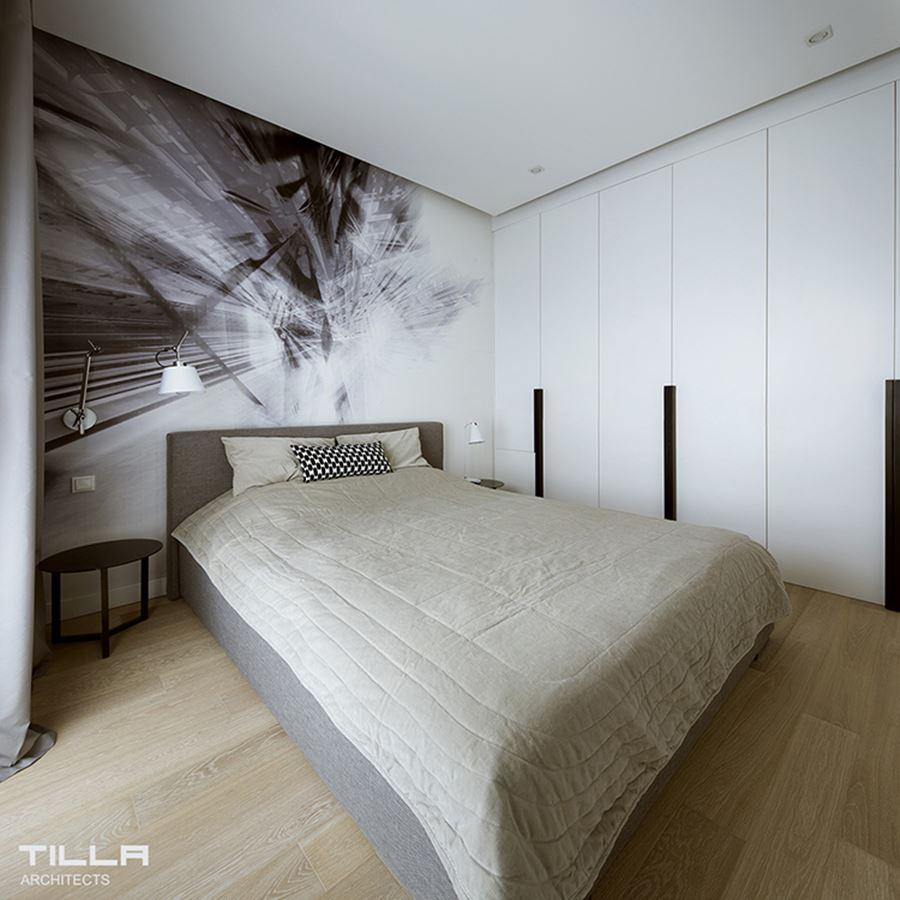 aranżacja nowoczesnej sypialni w bieli inspiracja