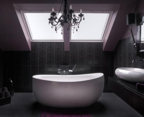 Elegancka łazienka w czerni