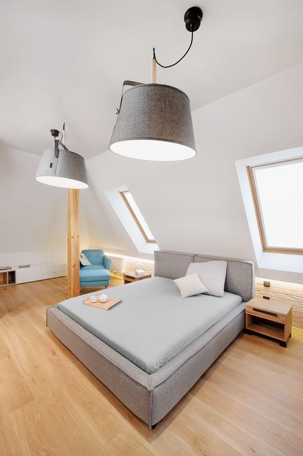 Sypialnia w stylu bauhaus