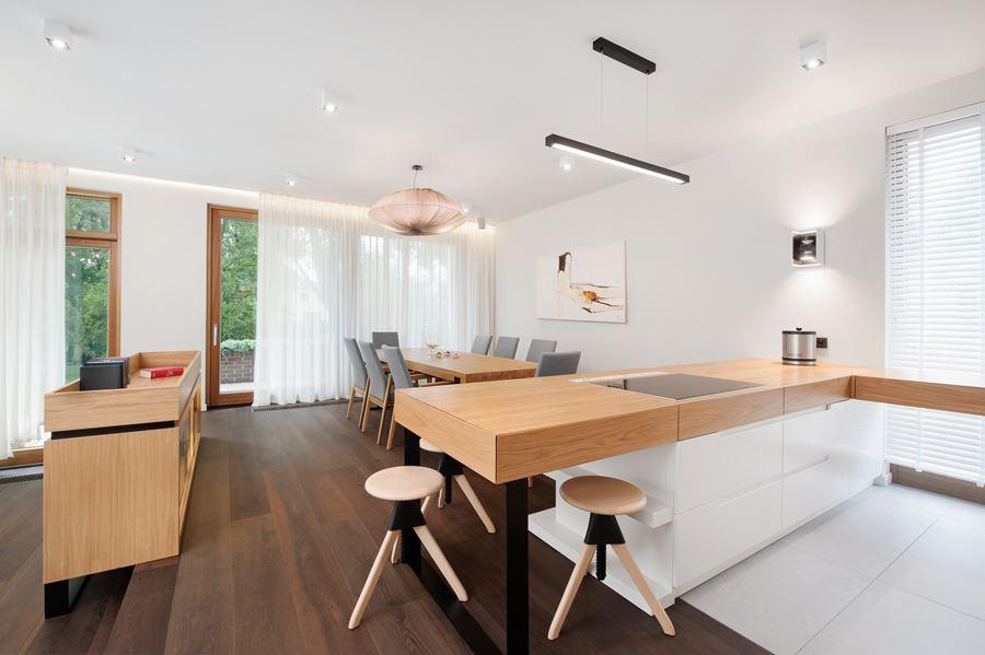 Duża kuchnia z jadalnią  Architektura, wnętrza   -> Kuchnia Z Oddzielną Jadalnią