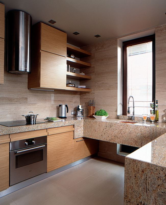 Drewno w nowoczesnym wnętrzu  HomeSquare -> Kuchnia W Limonce