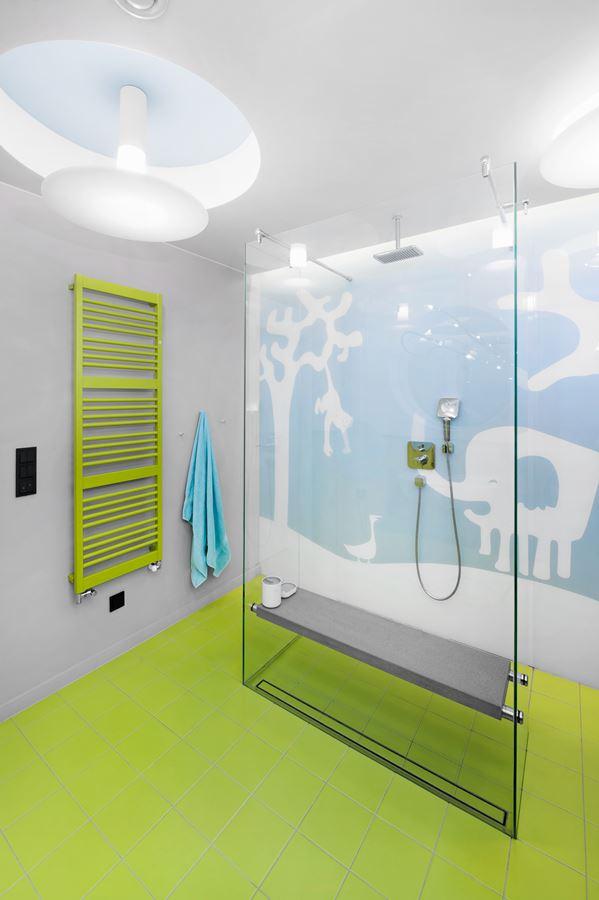 Zielona łazienka Dla Dziecka Inspiracja Homesquare