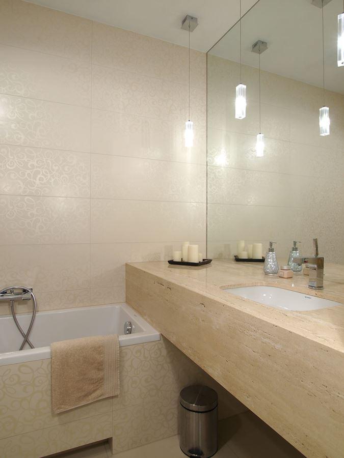 Łazienka w kolorze ecru - Architektura, wnętrza, technologia, design - HomeSquare