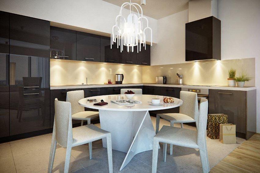 Otwarta kuchnia z wyspą  Architektura, wnętrza, technologia, design  HomeSq   -> Kuchnia Rustykalna Z Wyspą