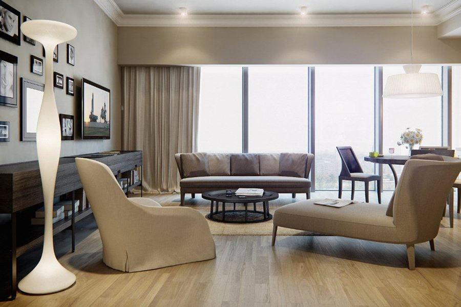 nowoczesny salon w kolorze ecru inspiracja homesquare