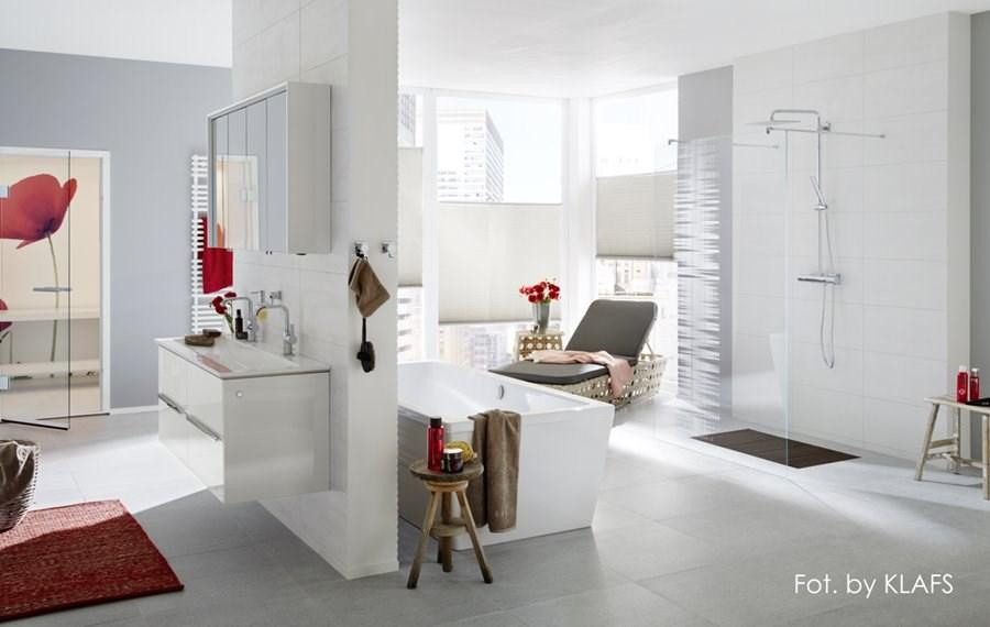 Stylowe pokoje kąpielowe z sauną