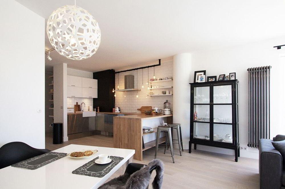 Nowoczesny styl skandynawski w salonie homesquare for Salon open space