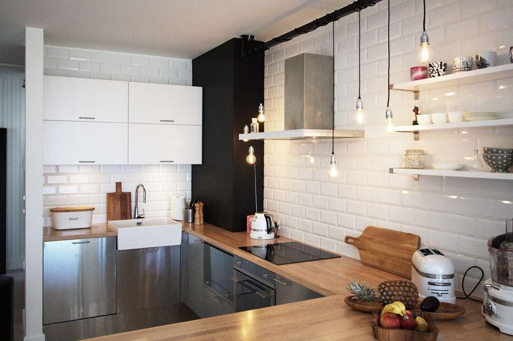 Design Hanglamp Keuken : Nowoczesny styl skandynawski w salonie polaczonym z kuchnia