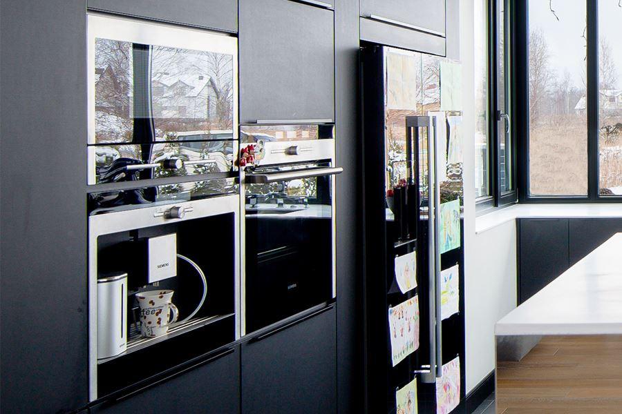 Prostokątna kuchnia z podwieszanym sufitem  Architektura   # Kuchnia Wolnostojąca Siemens