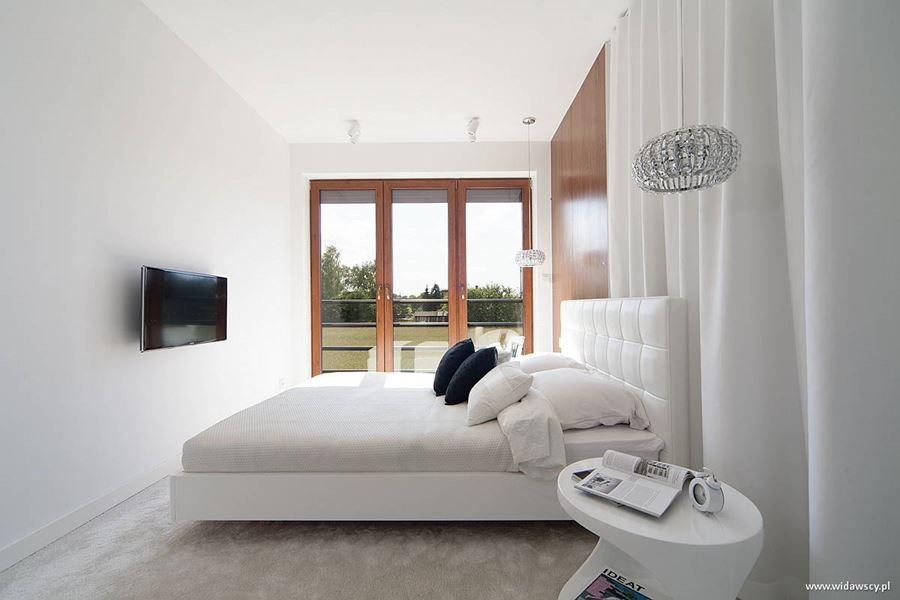 Jasna sypialnia z pokojem k pielowym architektura wn trza technologia design homesquare - Eigentijdse slaapkamer ...
