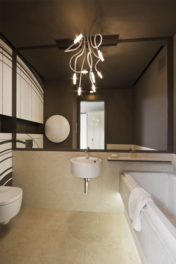 Nowoczesne oświetlenie od łazienki