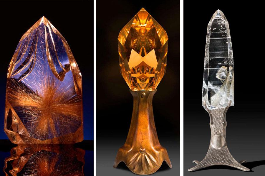 Nowoczesne rzeźby z kryształu