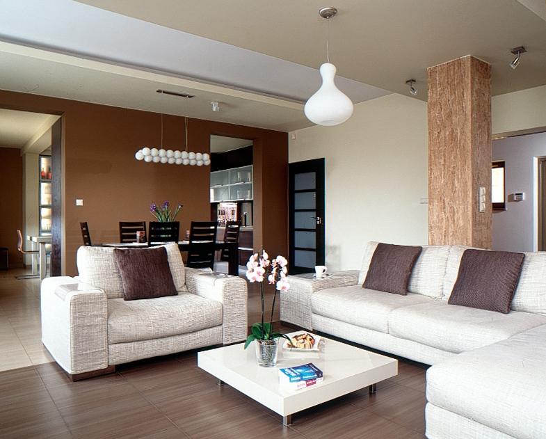 salon w ciep�ych kolorach architektura wnętrza